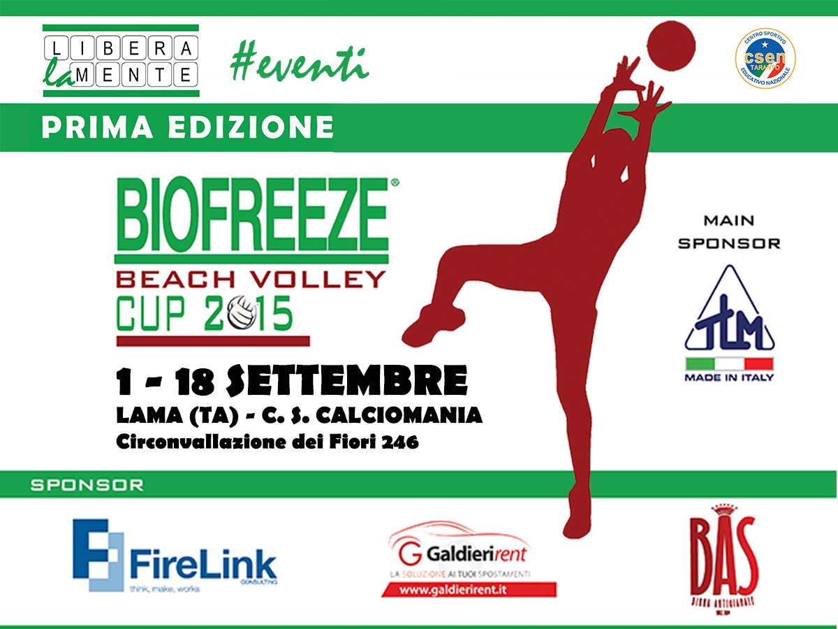 Biofreeze Beach Volley Cup 2015