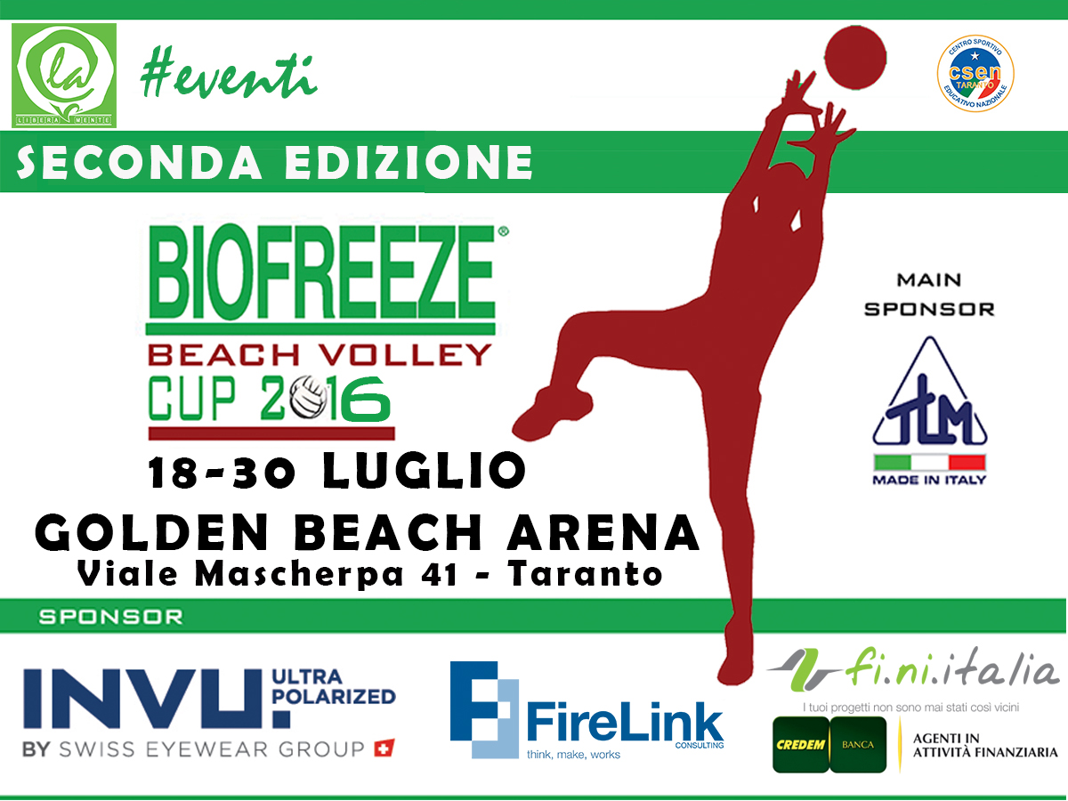Biofreeze Beach Volley Cup 2016